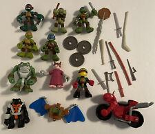 Lot of Teenage Mutant Ninja Turtles Half Shell Heroes Figures ~Splinter Minibike