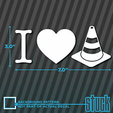 I love Cones - vinyl decal sticker SCCA race heart autocross track drift funny