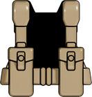 BrickArms Dark Tan WW2 British Pattern37 Vest Weapons for Brick Minifigures