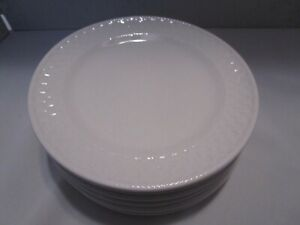 "Oneida Wicker Stoneware Bread & Butter 6"" Plates set of 6 ~GUC~"