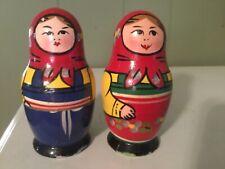 Vintage Wooden Nesting Dolls