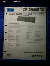 Sony Service Manual XR C540RDS Car Stereo (#6560)