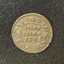 1731 POLUSHKA OLD RUSSIAN IMPERIAL COIN. ORIGINAL. ANNA