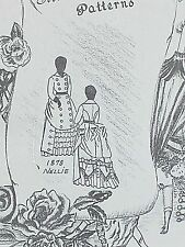 "Vintage Franki's Antique French Fashion Doll Dress Patterns Nellie SIZES 27""-29"""