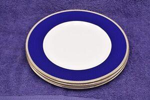 Wedgwood Hibiscus Set Of Four 27cm Dinner Plates - Unused