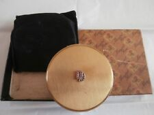 Vintage collectable ladies powder compact complete with box, net, black pouch