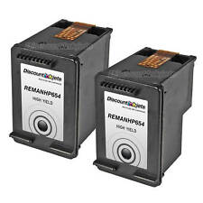 2pk CC654AN BLACK Ink Print Cartridge for HP 901XL j4660