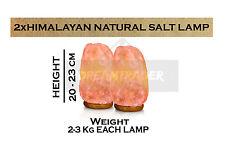 2 x Himalayan Rose Sel Cristal de Roche Lampe 2-3 Kg Natural Healing ionisant Lampes