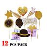 12pcs/set DIY Photo Booth Props Mask Stick Wedding Birthday Party Decorations