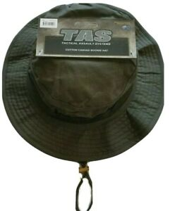 OLIVE DRAB GREEN BOONIE HAT 100% COTTON WITH DOUBLE LAYER BRIM AND SIDE VENTS