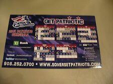 Somerset Patriots 2011 Magnetic Schedule - NICE