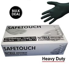 Nitrile Powder Blue Disposable Gloves Safetouch Size Medium Pack of 100