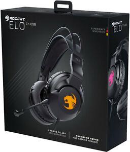 Roccat Elo 7.1 USB Surround Sound PC Gaming Headset - Black