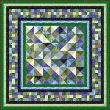 """Ocean Wave - 79"""" x 79"""" - Pre-cut Quilt Kit by Quilt-Addicts Double size"""