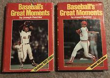 1981 & 1983 Baseball's Greatest Moments Hardcover Books by Joseph Reichler vg+