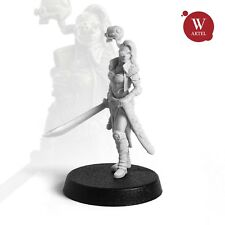 """28mm wargaming and collectible miniature, Jessica """"Steel Neck"""" Bruder"""