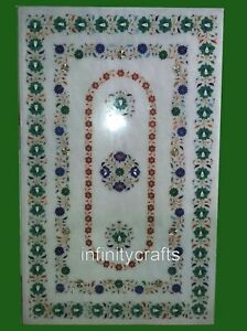 30 x 48 Inches Modern Inlay Stone Hallway Table Home Decor Dining Table Top
