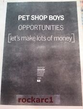 PET SHOP BOYS Opportunities 1986  UK Poster size Press ADVERT 16x12 inches