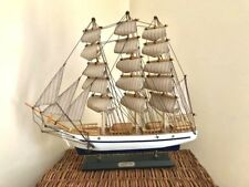 "Wooden Constitution Tall Model Ship 15"" Handcrafted Assembled"