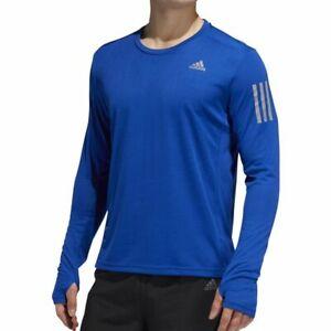 MENS ADIDAS OWN THE RUN LS RUNNING TOP IN ROYAL BLUE UKS RRP£29 (DZ2126)
