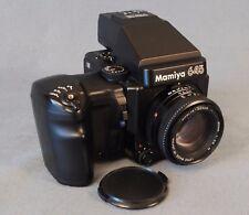MAMIYA M 645 Super avec AE Prism Finder, poignée WG401 et SEKOR 80 mm / 2.8 N