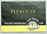 "ORIGINAL 1934 PLYMOUTH SIX SALES BROCHURE ~ 20 PAGES ~4.25"" X 6"" ~ 34PLYMINI"