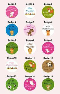 100 Sticker mit Namen Name Namensaufkleber Aufkleber drucken Schule Kita A105