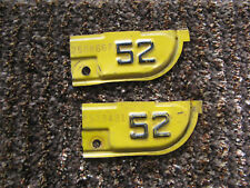 1951 51 1952 52 CALIFORNIA CA LICENSE PLATE TAB TAG ONLY SWEET PAIR SET 4