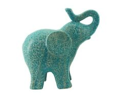 Lake Blue Elephant Ornament Sculpture Figurine Statue