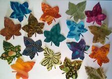 Batik Climbing Ivy Leaves fabric Pack remnants patchwork bundle 100%cotton