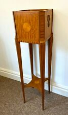 More details for edwardian style satinwood jardinière stand with inlaid decoration