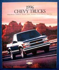 Prospectus Brochure 1996 CHEVROLET CHEVY SUBURBAN * Tahoe * C/K Pickup (USA)