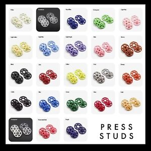 ABS Plastic Snaps - 10mm Press Studs - pack of 5 - Sewing Fastener Buttons Nylon