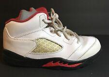 Nike Air Jordan Retro Toddler Girl Hi Tops Size 9C 440890-100 White Pink Black