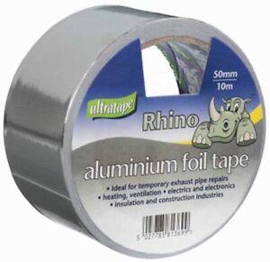 Aluminium Foil Tape Rolls 50mm x 10m Silver Self Adhesive Heat Insulation 6 pack
