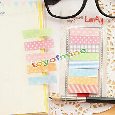 160 Pages Cute Sticker Post It Sticky Notes Bookmark Marker Memo Flags Index Tab