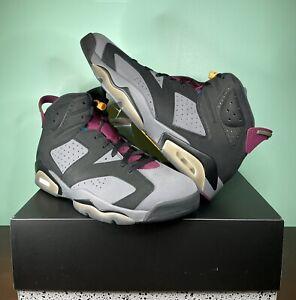 """DS Air Jordan 6 Retro """"Bordeaux"""" Black/Bordeaux Size 13 Men (MCT8529 063)"""