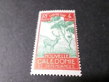 NOUVELLE CALEDONIE, 1928, timbre TAXE 27, neuf*, CERF et NIAOULI, VF MH STAMP