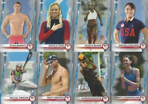2020 TOPPS TEAM USA OLYMPIC SILVER PARALLEL LOT 11 CARDS ***OLYMPIC STARS ***