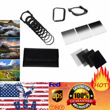Universal 2/4/8/16 ND Filter Kit For Cokin P+Square Filter Holder+Adapter+Hood