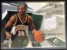 Ray Allen 2003-04 Upper Deck Black Diamond Jersey /250 Seattle Supersonics