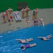 20PCS Swimming Figures 1:50 Model Train HO Beach People Toy Decor Gift