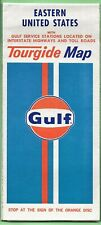 1973 GULF Road Map EASTERN UNITED STATES - Tourguide Map