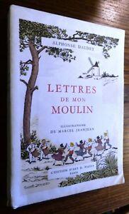 ALPHONSE DAUDET LETTRES DE MON MOULIN illustration MARCEL JEANJEAN PIAZZA  1954