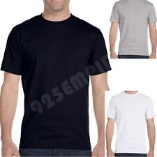 Men's Undershirt Crew Neck White/Black/Gray 100% Cotton Size:S/M/L/XL