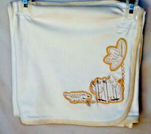 LITTLE ME 100% Cotton BEIGE Knit Blanket 30 X 30  NWOT