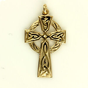 9ct Rose Gold Welsh Design Celtic Cross with or without Gold Chain
