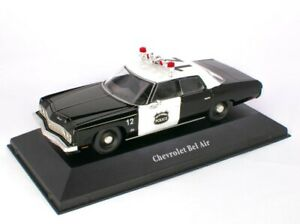 LIMITED EDITION Chevrolet Bel Air USA 1973 Police Car  1 /43 scale