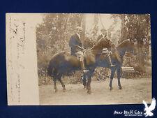 1906 RPPC Colorado Springs Colo English Saddles Boots Britches 2 Horse Men