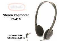 Stereo Kopfhörer LT-410 Kabellänge 1,20 m Klinke Stecker 3,5mm